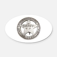 Tombstone Sheriff Badge Oval Car Magnet