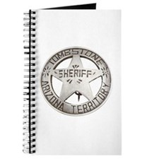 Tombstone Sheriff Badge Journal
