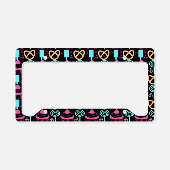 Whimsical Cupcake and Sweets License Plate Holder