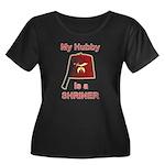 Hubby is a Shriner Women's Plus Size Scoop Neck Da