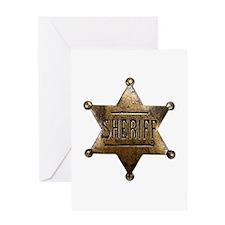 Sheriff Badge Greeting Cards