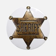 Sheriff Badge Ornament (Round)