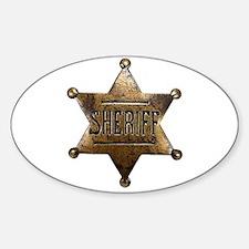 Sheriff Badge Decal