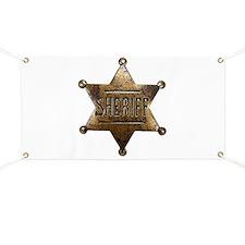 Sheriff Badge Banner