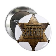 "Sheriff Badge 2.25"" Button"