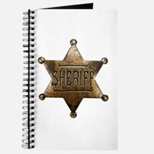 Sheriff Badge Journal