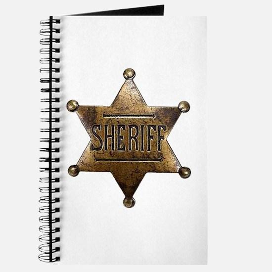 Sheriff Badge Journal