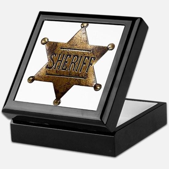 Sheriff Badge Keepsake Box