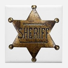 Sheriff Badge Tile Coaster