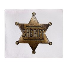 Sheriff Badge Throw Blanket