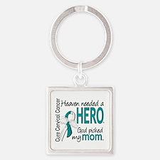 Cervical Cancer HeavenNeededHero1. Square Keychain