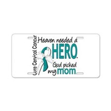 Cervical Cancer HeavenNeede Aluminum License Plate