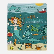 Mermaid Underwater Throw Blanket