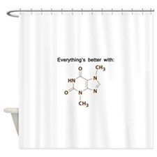 Chocolate Chemistry Shower Curtain