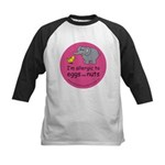 I'm allergic to eggs and nuts Kids Baseball Jersey