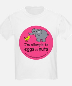 I'm allergic to eggs and nuts T-Shirt