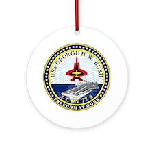 Uss George H. W. Bush Cvn-77 Ornament (round)
