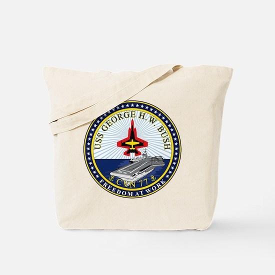 Uss George H. W. Bush Cvn-77 Tote Bag