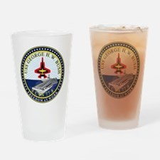 USS George H. W. Bush CVN-77 Drinking Glass