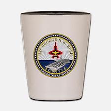 USS George H. W. Bush CVN-77 Shot Glass