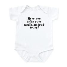 sardinian food today Infant Bodysuit
