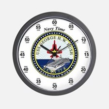 George H.W. Bush CVN-77 Wall Clock