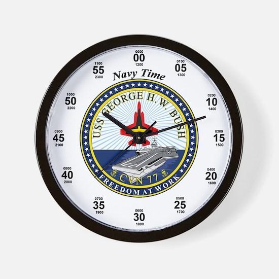 George H.W. Bush CVN-77 Wall Clock