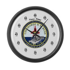 George H.W. Bush CVN-77 Large Wall Clock