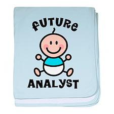 Future Analyst baby blanket
