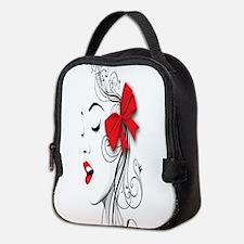 Red Lips Neoprene Lunch Bag