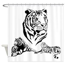 Cute Tiger lover Shower Curtain