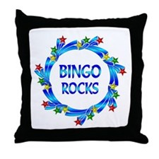 Bingo Rocks Throw Pillow