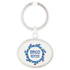 Bingo Rocks Oval Keychain