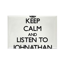 Keep Calm and Listen to Johnathan Magnets
