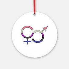 Gender Fluid Symbol Round Ornament