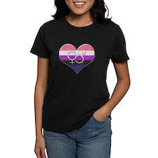 Genderfluid Pride Heart Tee