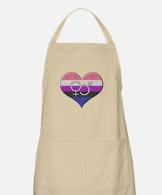 Gender Fluid Pride Heart Apron