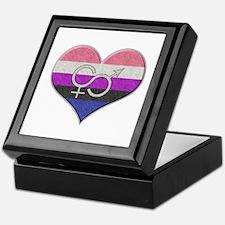 Gender Fluid Pride Heart Keepsake Box