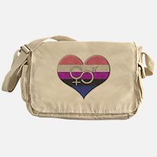 Gender Fluid Pride Heart Messenger Bag