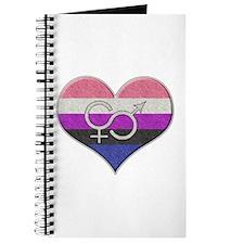 Genderfluid Pride Heart Journal