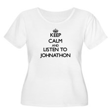 Keep Calm and Listen to Johnathon Plus Size T-Shir