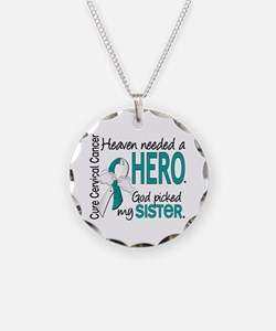 Cervical Cancer HeavenNeeded Necklace Circle Charm