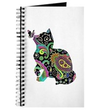 Paisley cat and butterfly Journal