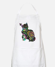 Paisley cat and butterfly Apron