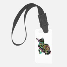 Paisley cat and butterfly Luggage Tag