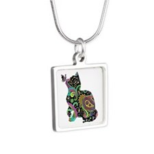 Paisley cat and butterfly Necklaces