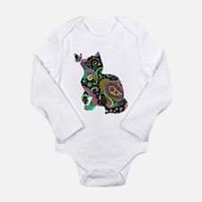 Paisley cat and butterfly Body Suit