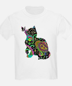 Paisley cat and butterfly T-Shirt