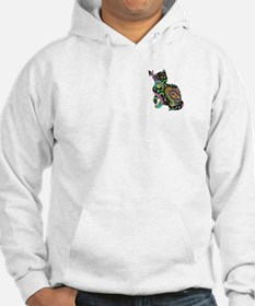 Paisley cat and butterfly Hoodie