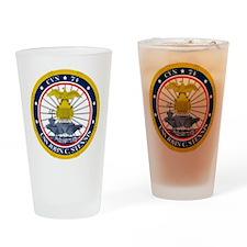 USS John C. Stennis CVN-74 Drinking Glass